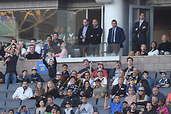 Exclusive - Matt Pokora, Christina Milian, David Beckham with his sons Brooklyn, 19, Romeo, 15 and Cruz, 13 attend the MLS game Los Angeles Galaxy v Sporting Kansas City in Los Angeles on April 8, 2018. NO CREDIT a3