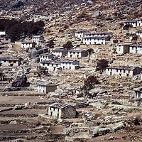 Khumjung village in the Khumbu region of Nepal. 1979 (Meredith Wiltsie photo)
