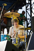 Friday, August 1, 2008; The Black Keys including vocalist/guitarist Dan Auerbach and drummer/producer Patrick Carney perform at Lollapalooza 2008.<br /> Photo by Bryan Rinnert