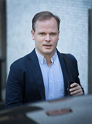 © Licensed to London News Pictures. 09/10/2016. London, UK. Former Government Director of Communications Sir Craig Oliver the ITV studios after appearing on Peston on Sunday show. Photo credit: Peter Macdiarmid/LNP