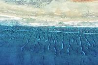 Aerial view of Lady Elliot Island's fringing reef, Great Barrier Reef, Queensland, Australia