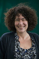 American-born children's author Francesca Simon, pictured at the Edinburgh International Book Festival where she talked about her bestselling stories. The three-week event is the world's biggest literary festival and is held during the annual Edinburgh Festival. The 2009 event featured talks and presentations by more than 500 authors from around the world.