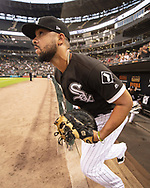 CHICAGO - SEPTEMBER 11:  Jose Abreu #79 of the Chicago White Sox runs out onto the field prior to the game against the Minnesota Twins on September 11, 2019 at Guaranteed Rate Field in Chicago, Illinois.  (Photo by Ron Vesely)  Subject:   Jose Abreu