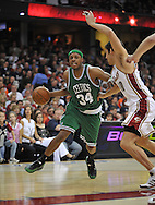 Boston's Paul Pierce drives past Wally Szczerbiak..The Cleveland Cavaliers defeated the Boston Celtics 108-84 in Game 3 of the Eastern Conference Semi-Finals at Quicken Loans Arena in Cleveland.