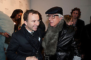 TONY CHAMBERS; NICKY HASLAM, Wallpaper* Design Awards. Wilkinson Gallery, 50-58 Vyner Street, London E2, 14 January 2010 *** Local Caption *** -DO NOT ARCHIVE-© Copyright Photograph by Dafydd Jones. 248 Clapham Rd. London SW9 0PZ. Tel 0207 820 0771. www.dafjones.com.<br /> TONY CHAMBERS; NICKY HASLAM, Wallpaper* Design Awards. Wilkinson Gallery, 50-58 Vyner Street, London E2, 14 January 2010