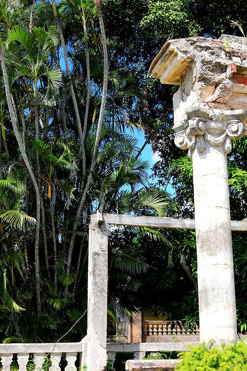 House column in San Miguel de los Banos, Matanzas, Cuba.