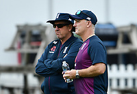 Cricket - 2019 ICC Cricket World Cup - pre-Final practice & press conferences<br /> <br /> England's Coach Trevor Bayliss with batting coach Graham Thorpe, at Lords.<br /> <br /> COLORSPORT/ASHLEY WESTERN