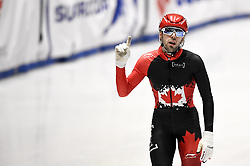 February 9, 2019 - Torino, Italia - Foto LaPresse/Nicolò Campo .9/02/2019 Torino (Italia) .Sport.ISU World Cup Short Track Torino - Men 1500 meters Semifinals .Nella foto: Steven Dubois esulta..Photo LaPresse/Nicolò Campo .February 9, 2019 Turin (Italy) .Sport.ISU World Cup Short Track Turin - Men 1500 meters Semifinals.In the picture: Steven Dubois celebrates (Credit Image: © Nicolò Campo/Lapresse via ZUMA Press)