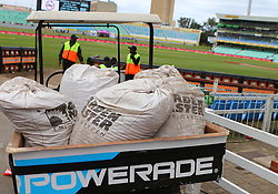 Bags of sawdust during day four of the first test match between South Africa and New Zealand held at the Kingsmead stadium in Durban, KwaZulu Natal, South Africa on the 22nd August 2016<br /> <br /> Photo by:   Anesh Debiky / Real Time Images