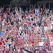 USA fans during the US Men's National Team Vs Turkey friendly match at Red Bull Arena.  The game was part of the USA teams three-game send-off series in preparation for the 2014 FIFA World Cup in Brazil. Red Bull Arena, Harrison, New Jersey. USA. 1st June 2014. Photo Tim Clayton