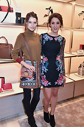 Left to right, Sarah Ann Macklin and Rosanna Falconer at a party to celebrate the launch of the new Furla Flagship store, 71 Brompton Road, London England. 2 February 2017.