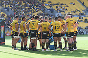 Hurricanes players in the Super Rugby match, Hurricanes v Crusaders, Sky Stadium, Wellington, Sunday, April 11, 2021. Copyright photo: Kerry Marshall / www.photosport.nz