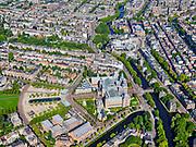 Nederland, Noord-Holland, Amsterdam, 02-09-2020; Amsterdam-Zuid, Museumplein met Rijksmuseum. Ruysdaelkade onder in beeld, rechts Stadhouderskade richting Leidseplein.<br /> <br /> luchtfoto (toeslag op standard tarieven);<br /> aerial photo (additional fee required);<br /> copyright foto/photo Siebe Swart