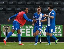 Peterborough's Tommy Rowe celebrates his goal  - Photo mandatory by-line: Matt Bunn/JMP - Tel: Mobile: 07966 386802 10/08/2013 - SPORT - FOOTBALL -  Meadow Lane - Nottinghamshire -  Notts County v Peterborough United - Sky Bet League 1