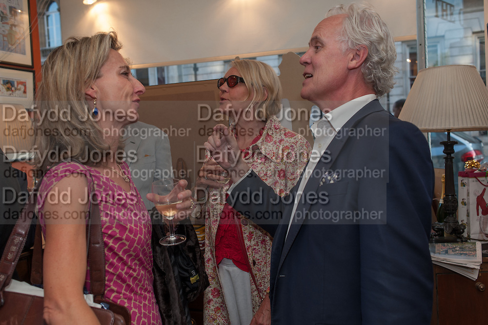 DAISY WAUGH; PADDY RENOUF, Elliott and Thompson host a book launch of How the Queen can Make you Happy by Mary Killen.- Book launch. The O' Shea Gallery. St. James's St. London. 20 June 2012.