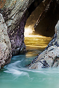 Sea Cave in Sonoma Coast State Park near Bodega Bay