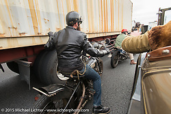 Ride around Tokyo with friends of the Freewheelers And Company shop. Tokyo, Japan. December 8, 2015.  Photography ©2015 Michael Lichter.