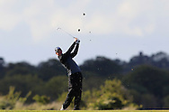 Stuart Grehan (Tullamore) on the 15th tee during Round 2 of the East of Ireland Amateur Open Championship at Co. Louth Golf Club, Baltray on Sunday 30th May 2015.<br /> Picture:  Thos Caffrey / www.golffile.ie