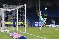 Scott Brown of Port Vale dives as Jordan Rossiter's long range effort flies past him as Bury equalise  - Mandatory by-line: JMP - 04/05/2019 - FOOTBALL - Gigg Lane - Bury, England - Bury v Port Vale - Sky Bet League Two