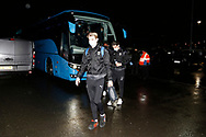 Jack Rudoni of Wimbledon arriving at the stadium during the EFL Sky Bet League 1 match between Doncaster Rovers and AFC Wimbledon at the Keepmoat Stadium, Doncaster, England on 26 January 2021.