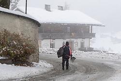 THEMENBILD - Neuschnee im Wallfahrtsort Maria Luggau, aufgenommen am Dienstag, 12. November 2019, in Maria Luggau in Kärnten Heute schneit es in Österreich verbreitet bis in tiefe Lagen. Ein Teil des Schneefalls konzentriert sich dabei auf Osttirol. Hier kommen laut ZAMG bis Mittwochabend selbst in Tallagen 20 bis 50 Zentimeter Neuschnee zusammen. Vereinzelt sind auch bis zu 75 Zentimeter möglich, wie im Tiroler Gailtal // Fresh snow in the place of pilgrimage Maria Luggau, taken on Tuesday, November 12, 2019, in Maria Luggau, Carinthia. Today it is snowing in Austria to low altitudes. Part of the snowfall is concentrated on East Tyrol. According to ZAMG, 20 to 50 centimeters of fresh snow come together here even in valleys on Wednesday evening. Occasionally, up to 75 centimeters are possible, as in the Tyrolean Gail Valley. EXPA Pictures © 2019, PhotoCredit: EXPA/ Johann Groder
