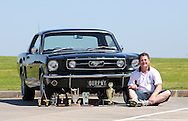 1966 Ford Mustang GT Coupe/Hardtop - Iby Green.4 Speed with decor/Pony Interior.Shot on location at Scorsby Industrial Estate, Melbourne, Victoria.30th December 2010.(C) Joel Strickland Photographics.Use information: This image is intended for Editorial use only (e.g. news or commentary, print or electronic). Any commercial or promotional use requires additional clearance.