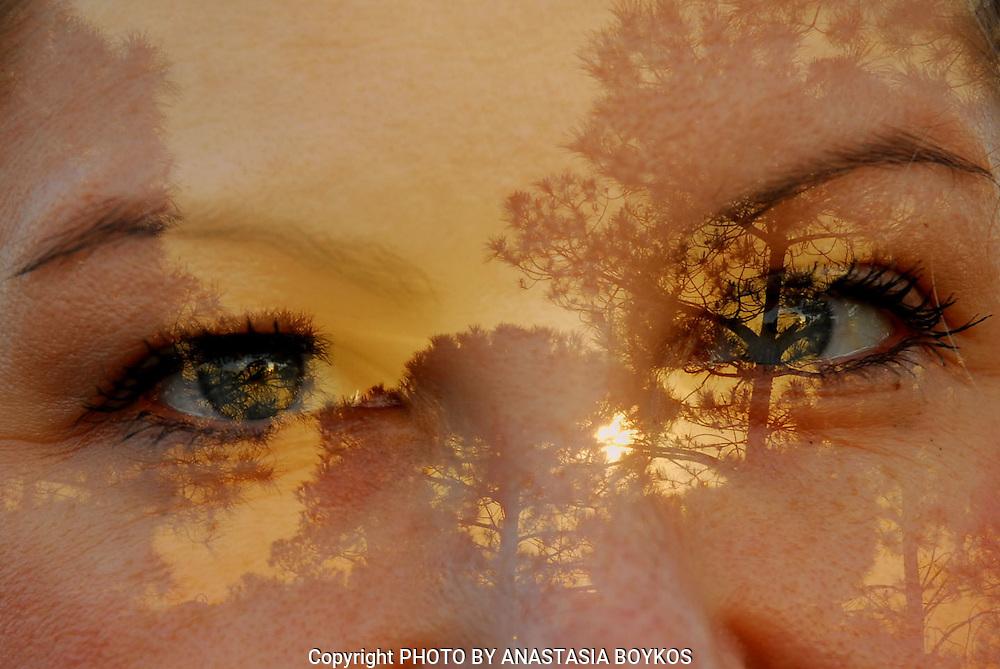 """Η φωτογραφία """" Όραμα – Vision I"""" από τη σειρά  σεμιναρίων καλλιτεχνικής φωτογραφίας της Αναστασίας Μπόϊκου, οραματιστείτε έναν καλύτερο κόσμο μέσα από τα ανθρώπινα μάτια, διακρίθηκε τον Οκτώβριο του 2014 ως TALENTED digital ART στο FLICKR και έγινε popular στο 500px.<br /> <br /> The photo: """"Orama – Vision I""""  on October 2014 became popular on 500px and seen as TALENTED digital ART on FLICKR. <br /> <br /> Model and student: Anna Tziraki.<br /> <br /> April 2013."""