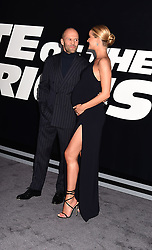 """Jason Statham and Rosie Whiteley Huntington attend The World Premiere of """"The Fate of the Furious"""" on April 8, 2017 at Radio City Music Hall in New York, New York, USA. *** Please Use Credit from Credit Field ***"""