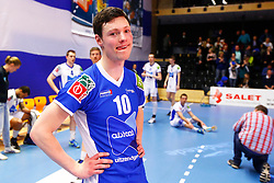 20150426 NED: Eredivisie Landstede Volleybal - Abiant Lycurgus, Zwolle<br />Just Dronkers (10) of Abiant Lycurgus<br />©2015-FotoHoogendoorn.nl / Pim Waslander