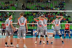 Team  Euphony Asse-Lennik during volleyball match between ACH Volley (SLO) and Euphony Asse-Lennik (BEL) in 3rd Leg of Pool D of 2013 CEV Champions League on November 14, 2012 in Arena Stozice, Ljubljana, Slovenia. (Photo By Urban Urbanc / Sportida)