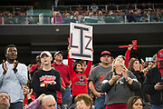 Fans cheer on the Iraan High School football team during the state championship game at AT&T Stadium in Arlington, Texas on December 15, 2016. (Cooper Neill for The New York Times)