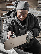 Lucassie Echalook, an elder very well know for is carving and he is also the oldest polar bear hunter in the village.