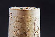 technical cork with disks at the end and glued agglomerate cork in the middle