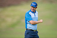 Padraig Harrington of Ireland smiles at the crowd during the British Masters 2018 at Walton Heath Golf Course, Walton On the Hill, Surrey on 12 October 2018. Picture by Martin Cole.