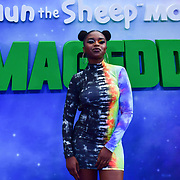 Nadia Rose attend the Shaun the Sheep Movie: Farmageddon, at ODEON LUXE on 22 September 2019,  London, UK.