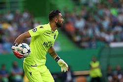 August 15, 2017 - Lisbon, Portugal - Sporting's goalkeeper Rui Patricio from Portugal in action during the UEFA Champions League play-offs first leg football match between Sporting CP and FC Steaua Bucuresti at the Alvalade stadium in Lisbon, Portugal on August 15, 2017. (Credit Image: © Pedro Fiuza/NurPhoto via ZUMA Press)