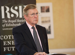 Sir Muir Russell, chairman of RSE energy inquiry, outlining the findings in its report 'Scotland's Energy Future' at the Royal Society of Edinburgh HQ. pic copyright Terry Murden @edinburghelitemedia