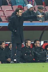December 5, 2017 - Lisbon, Portugal - Basel's head coach Raphael Wicky from Suisse gestures during the UEFA Champions League Group A football match between SL Benfica and FC Basel at the Luz stadium in Lisbon, Portugal on December 5, 2017. (Credit Image: © Pedro Fiuza/NurPhoto via ZUMA Press)