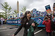 Beka Economopoulos at the March for Science along Constitution Avenue in Washington, D.C., on Earth Day.