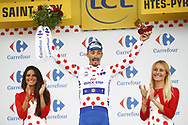 Podium, Hotess, miss, Julian Alaphilippe (FRA - QuickStep - Floors) polka dots jersey during the 105th Tour de France 2018, Stage 17, Bagneres de Luchon - Col du Portet (65 km) on July 25th, 2018 - Photo Luca Bettini / BettiniPhoto / ProSportsImages / DPPI