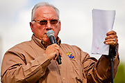 12 JUNE 2010 - PHOENIX, AZ: State Sen. Russell Pearce speaks about SB 1070  at Bolin Memorial Park near the State Capitol in Phoenix Saturday. About 500 people, many from California and Florida, attended the afternoon rally. PHOTO BY JACK KURTZ