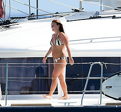 EXCLUSIVE: Wayne and Coleen Rooney pictured on a catamaran in Barbados. 28 May 2018 Pictured: Wayne and Coleen Rooney. Photo credit: MEGA TheMegaAgency.com +1 888 505 6342