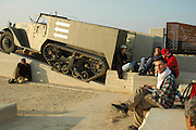 Israel, Negev plains, Nitzana An Israeli armoured vehicle in memory of the soldiers who fought in the area in the 1948 war of independence