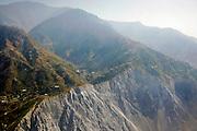 Karokoram mountains and Skardu Valley in Northern Pakistan. Showing recent earthquake slip in foreground.