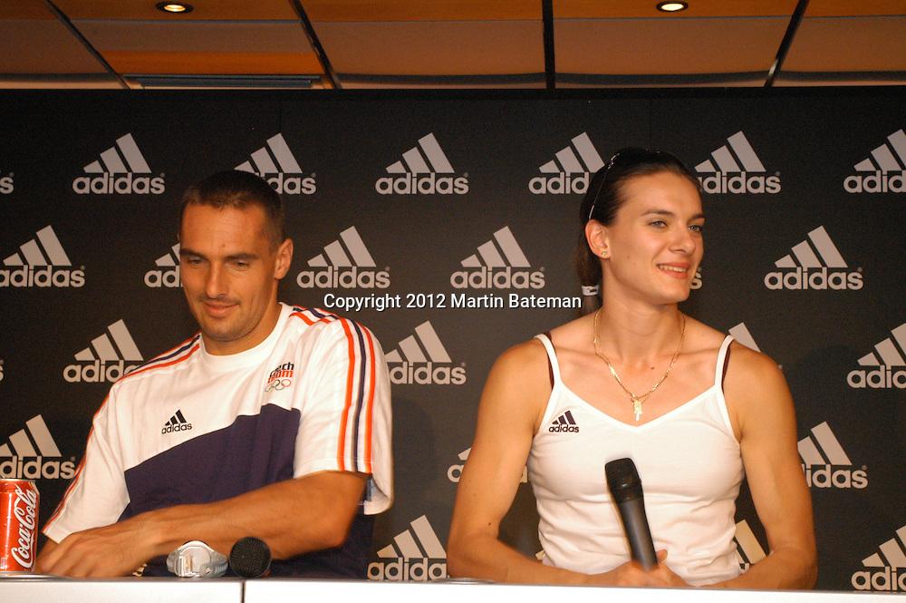 Yelena Isinbeyeva at Adidas Press 2004