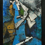 A painting by M.F Hussain, part of artist's Anjolie Ela Menon's collection