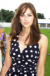 MISS TASHA DE VASCONCELOS MOTA E CUNHA a friend of Prince Albert of Monaco, at a polo match in Berkshire on 30th July 2000.OGN 40