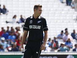May 25, 2019 - London, England, United Kingdom - Tim Southee of New Zealand.during ICC World Cup - Warm - Up between India and New Zealand at the Oval Stadium , London,  on 25 May 2019.Credit Action Foto Spor  (Credit Image: © Action Foto Sport/NurPhoto via ZUMA Press)