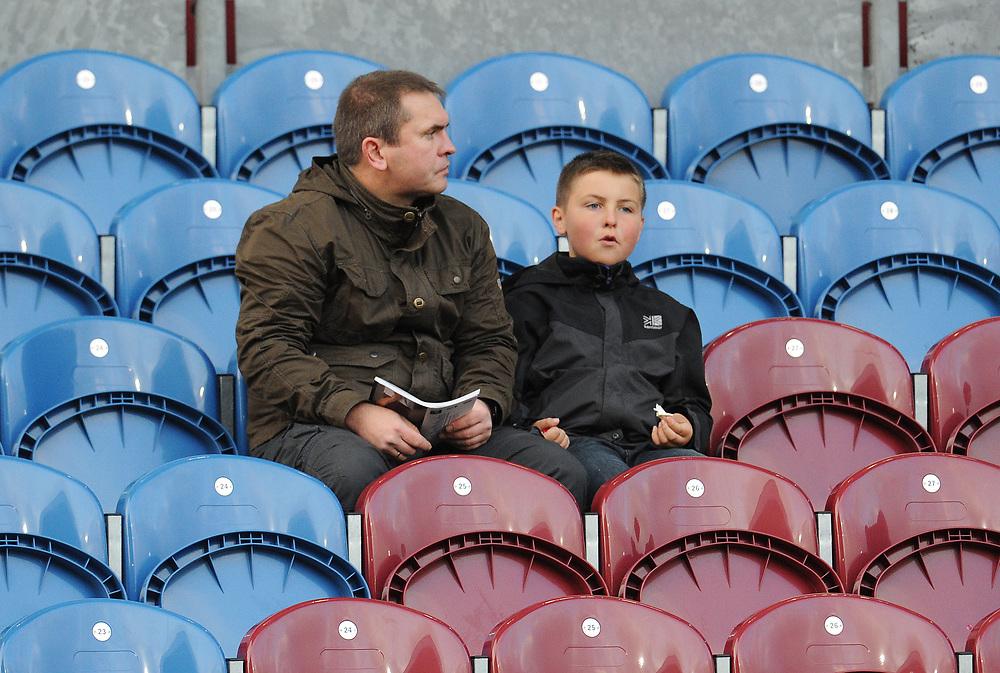 Burnley fans enjoy the pre-match atmosphere <br /> <br /> Photographer Kevin Barnes/CameraSport<br /> <br /> The Premier League - Burnley v Chelsea - Saturday 26th October 2019 - Turf Moor - Burnley<br /> <br /> World Copyright © 2019 CameraSport. All rights reserved. 43 Linden Ave. Countesthorpe. Leicester. England. LE8 5PG - Tel: +44 (0) 116 277 4147 - admin@camerasport.com - www.camerasport.com