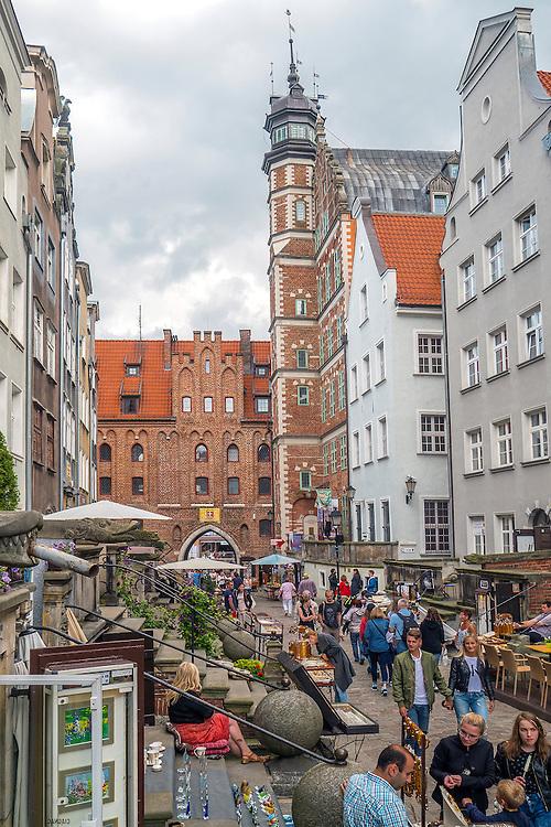 Gdańsk, (woj. pomorskie) 18.07.2016. Ulica Mariacka w Gdańsku